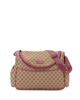 82fb3eb24 Gucci Travel Guccissima-Print Diaper Bag w/ Changing Pad | Random Baby  things | Accesorios para bebes, Bolsos, Bebe