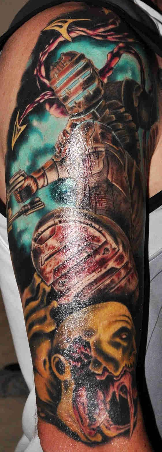 Dead Space Tattoo : space, tattoo, Daniel, Montes, Tattoos, Space, Tattoo,, Tattoo