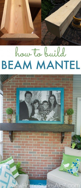 How To Build A Box Beam Mantel Diy Craft Inspiration Pinterest