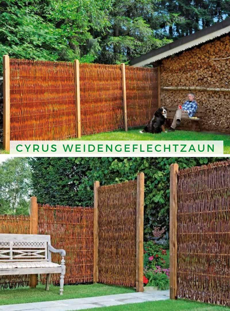 Alpholz Cyrus Weidengeflechtzaun Weiden Gartengestaltung Haus