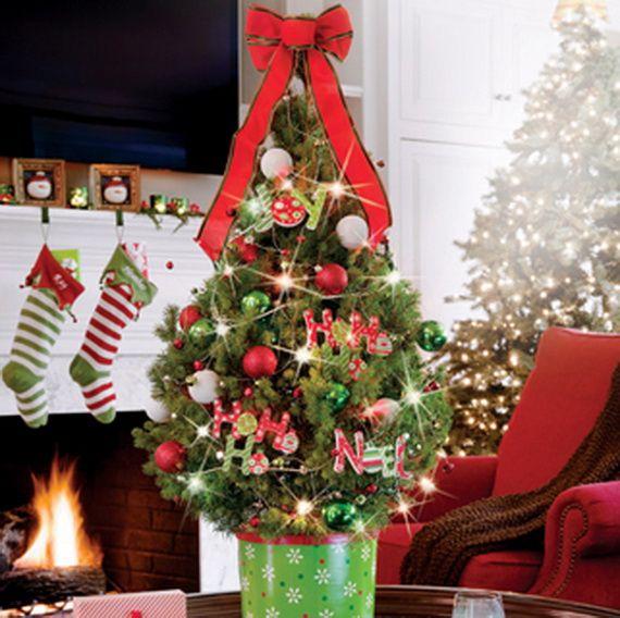 Live Decorated Tabletop Christmas Trees from Jackson & Perkins - Miniaturní Stolní Vánoční Strom Zdobení Ideas_03 VÁNOCE