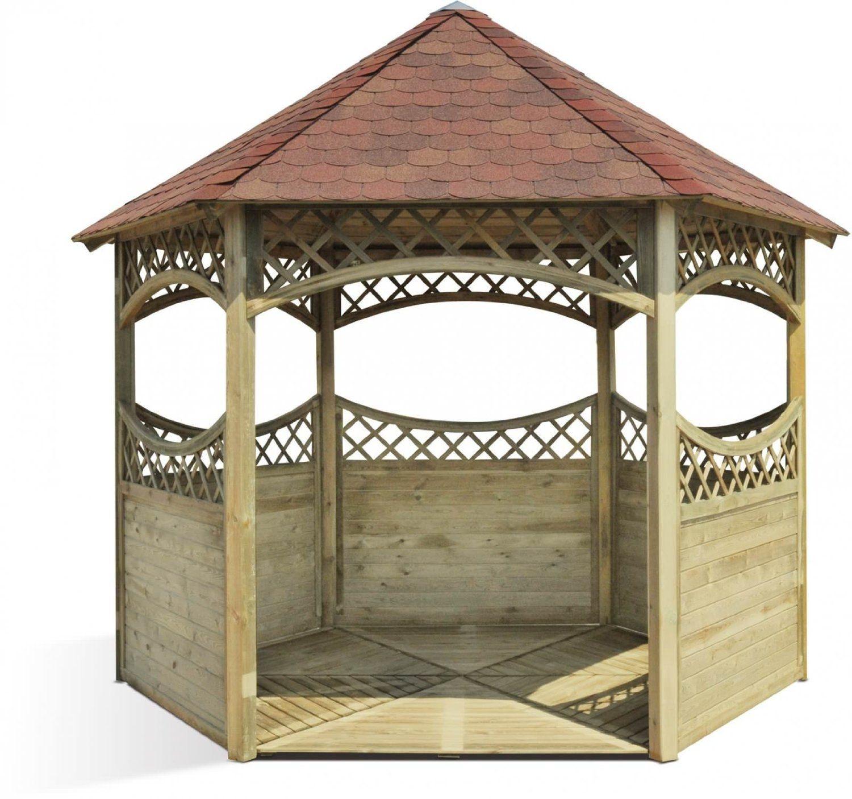 Kiosque en bois de jardin Red: Amazon.fr: Jardin | kiosque de jardin ...