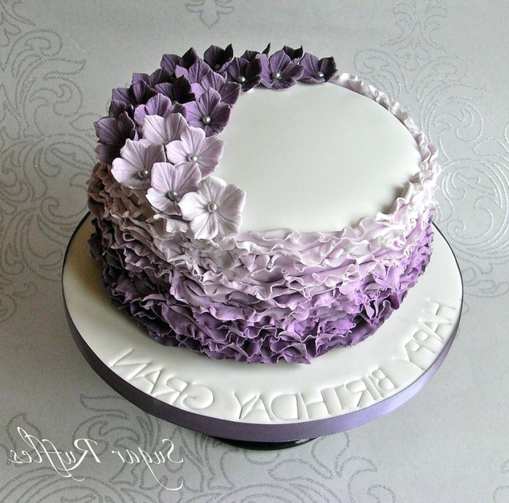 20 Brilliant Photo Of Purple Birthday Cake With Images Purple