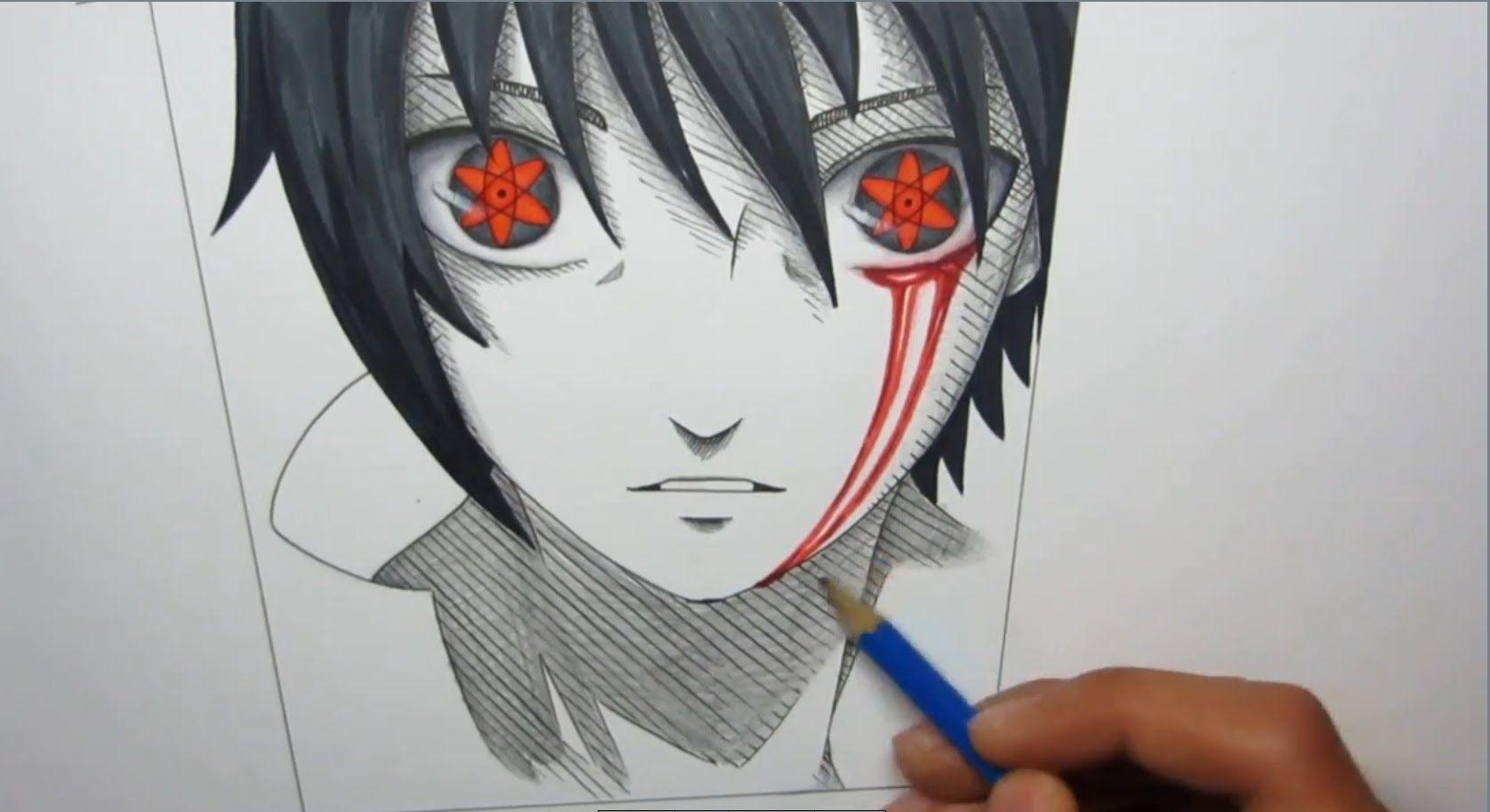 Sasuke - Mangekyou Sharingan Hatred by perceptive-drawing ... |Itachi Mangekyou Sharingan Drawing