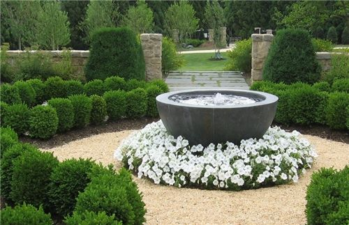 Formal Fountain Fountain and Garden Pond Sisson Landscapes Great ...