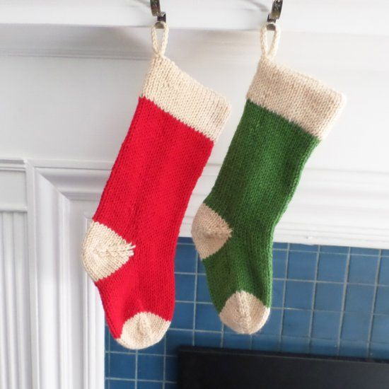 Quick and classic Christmas stockings! Ea… | Knitted ...