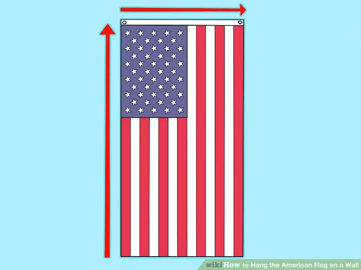 3 Ways To Hang The American Flag On A Wall Wikihow In 2020 Hanging Flags Framed Flag Flag Display