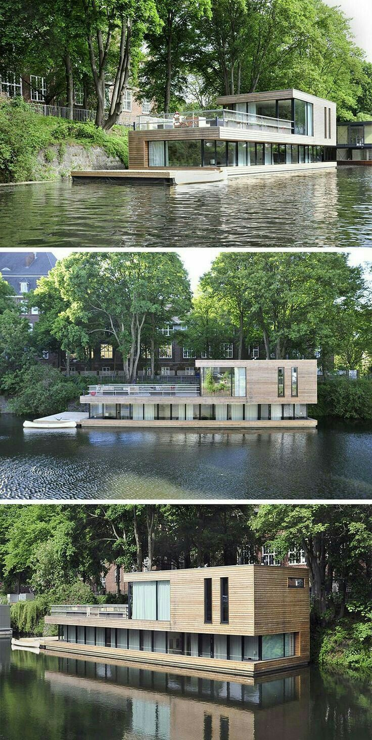 Attractive Plans To Design And Build A Container Home   Maison Sur Leau à Plusieurs  Niveaux, Bardage Bois Massif Et Grandes Baies Vitrées   Who Else Wants  Simple ...