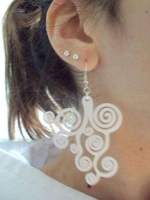 Acrylic Earrings // Design Earrings // Made in Italy // SOB // Earrings // Handmade Earrings // Handcrafted Earrings