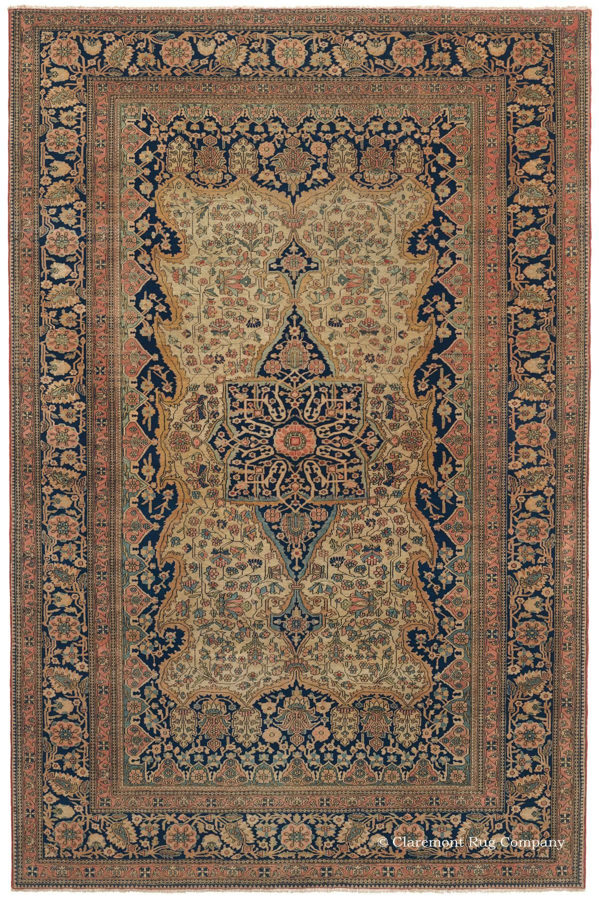 One Of The True Jewels Among Many Highly Collectible Area Size Antique Oriental Rugs In