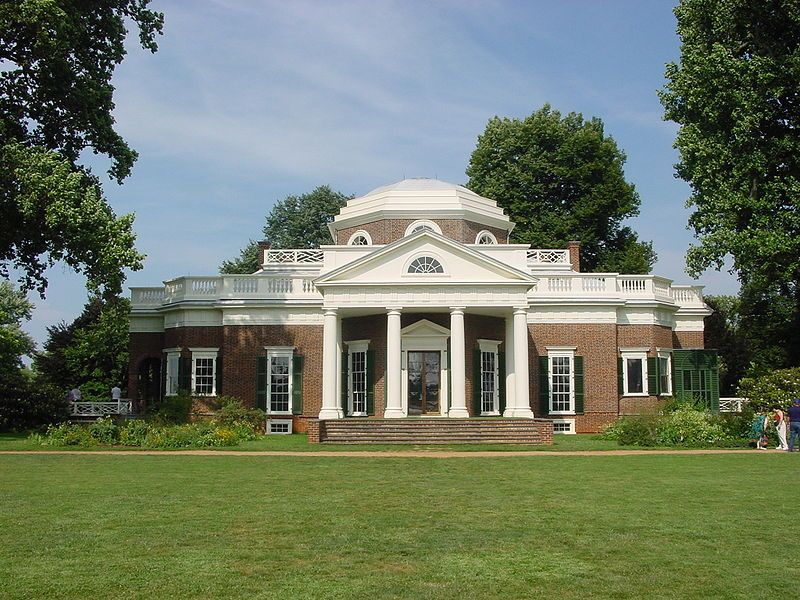 Monticello Estate, designed and redesigned (in part) by