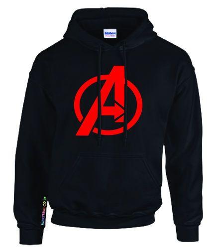 6bac45d3f95 Avengers Hoodie CPT America Thor Ironman Hulk Hawkeye Marvel Movie s XXL