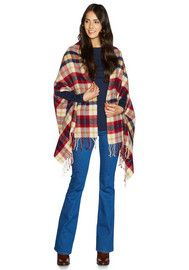 F&F Checked Scarf with Armholes
