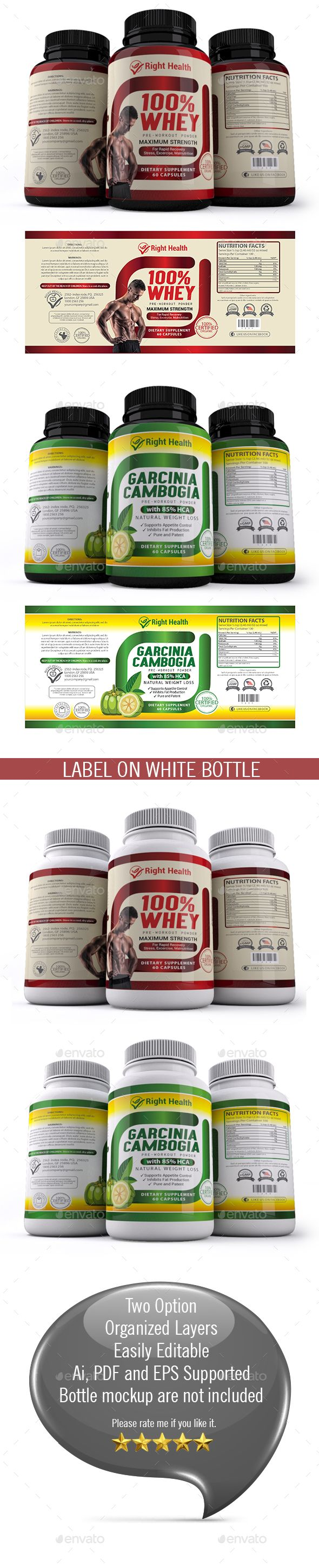 Supplement Label Templates 012 | Label templates, Ai illustrator and ...