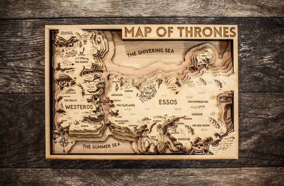 Game Of Thrones 3d Wood Map Art Game Of Thrones Map Map Games