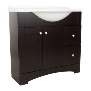 Del Mar 36 In W Vanity With Ab Engineered Composite Top In Espresso Dmsd36p2com E At The Bathroom Remodel Cost Large Bathroom Remodel Small Bathroom Remodel