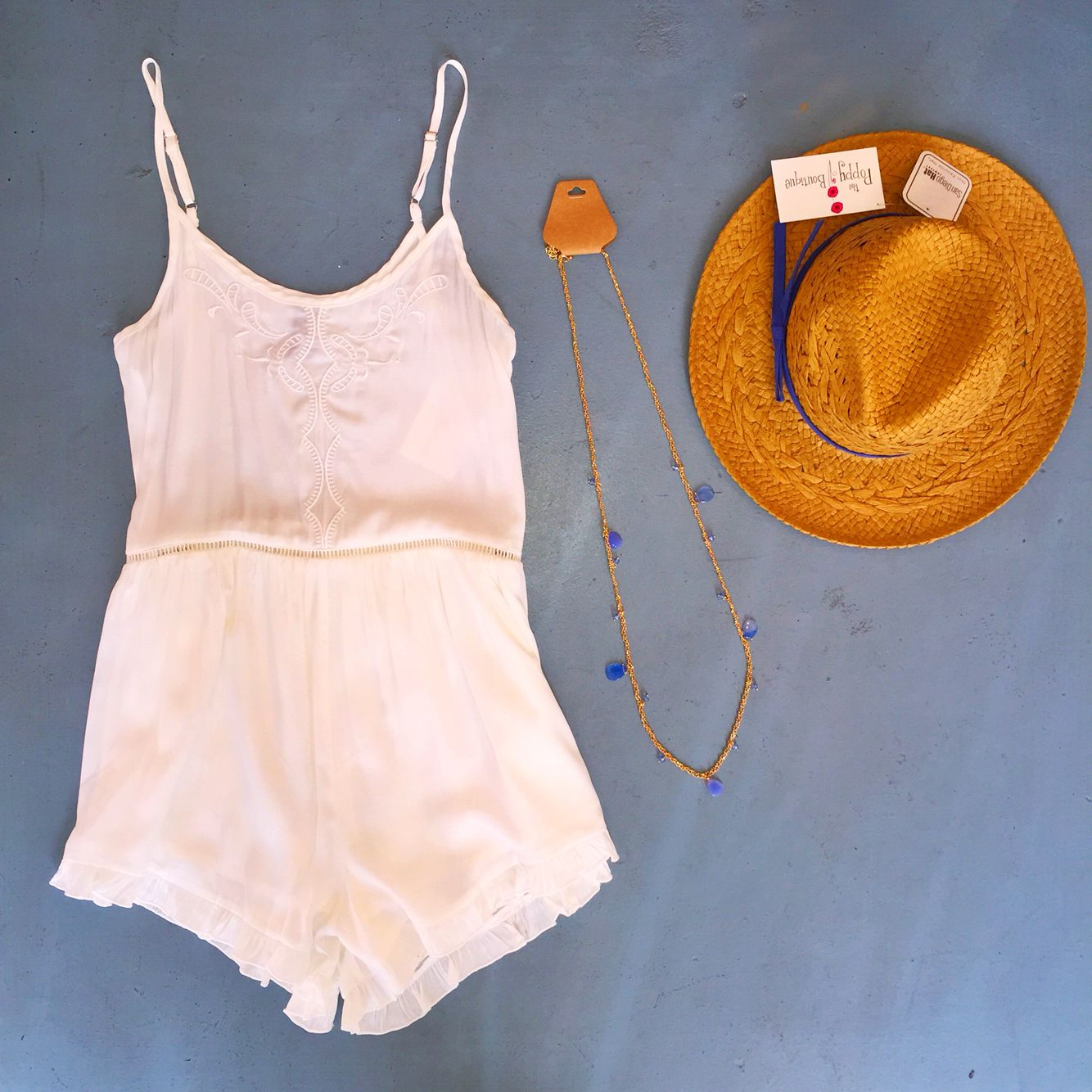 running wild and looking pretty #ootd #whitehot #romper #shoppoppy