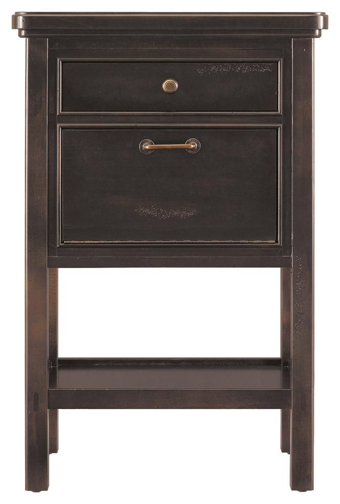 Modern Craftsman e Drawer Telephone Table by Stanley Furniture