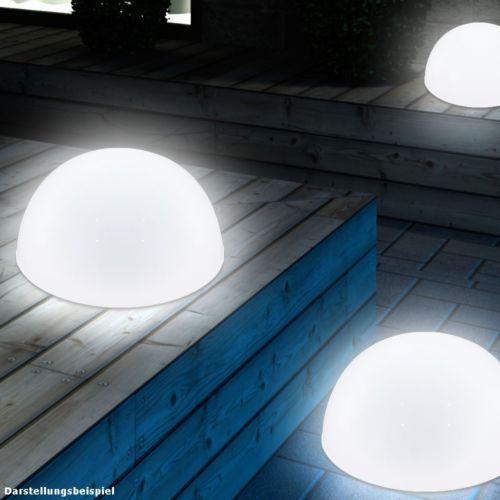 Details Zu 3er Boden Wand Led Solar Set Lampe Hof Weg Aussen