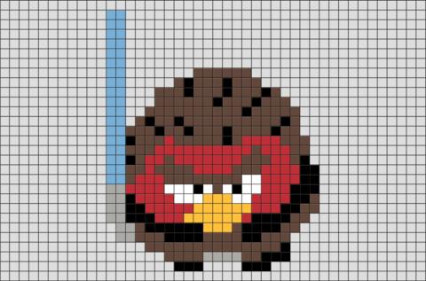 Star Wars Angry Birds Pixel Art Pixel Art Pattern Minecraft Pixel Art Lego Art