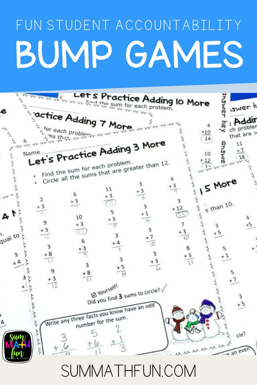 Worksheets Problem Solving For Math Center Accountability In 2021 Math Center Elementary Math Classroom Sum Math Fun Accountability worksheets for students