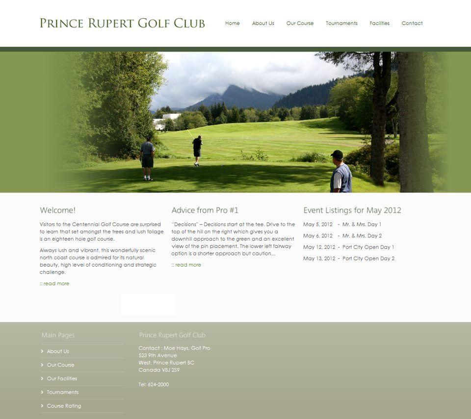 See the full website at www.princerupertgolf.ca