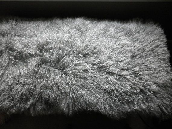 Real Tibet Mongolian Lamb Fur 2 Tone Gray With Natural White Tips Fur Plate Rug Throw New Grey Wool Mongolian Lamb Fur Mongolian Lamb Grey Throw