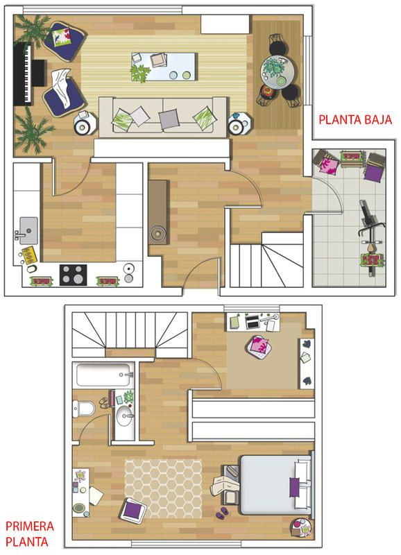 Una casa decorada con muy buen gusto House, Architecture and - Apartment House Plans