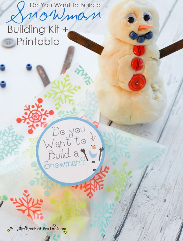 Sparkly Snow Play Dough Recipe + Free Build a Snowman Olaf Printable