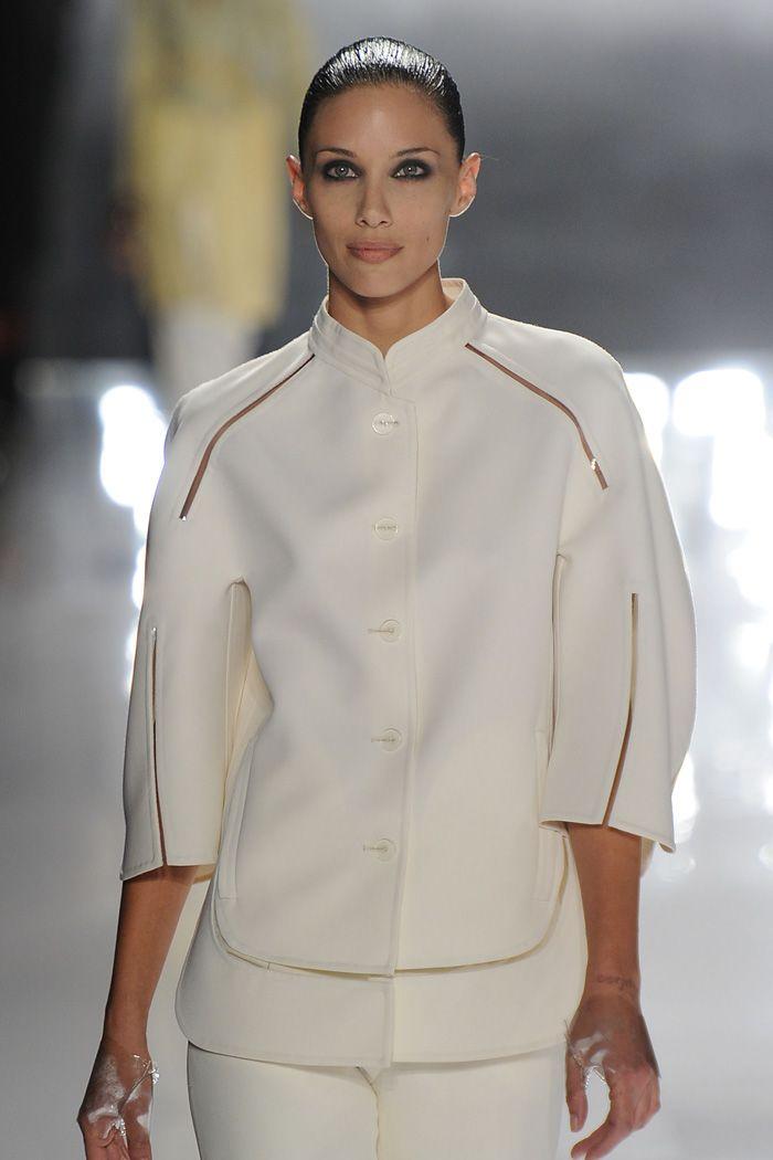 Chado Ralph Rucci: Sleek braided bun (Front)  #fashion #hair #hairstyling #models #runway #newyork