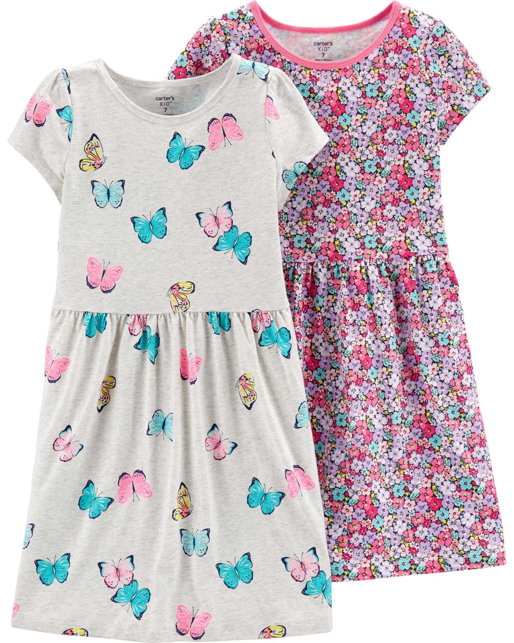 473016b96ba6 2-Pack Jersey Dress Set | Carters.com Dresses Kids Girl, Toddler Girl