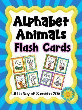 Alphabet Animals Flash Cards  Alphabet Flash Cards Alphabetical