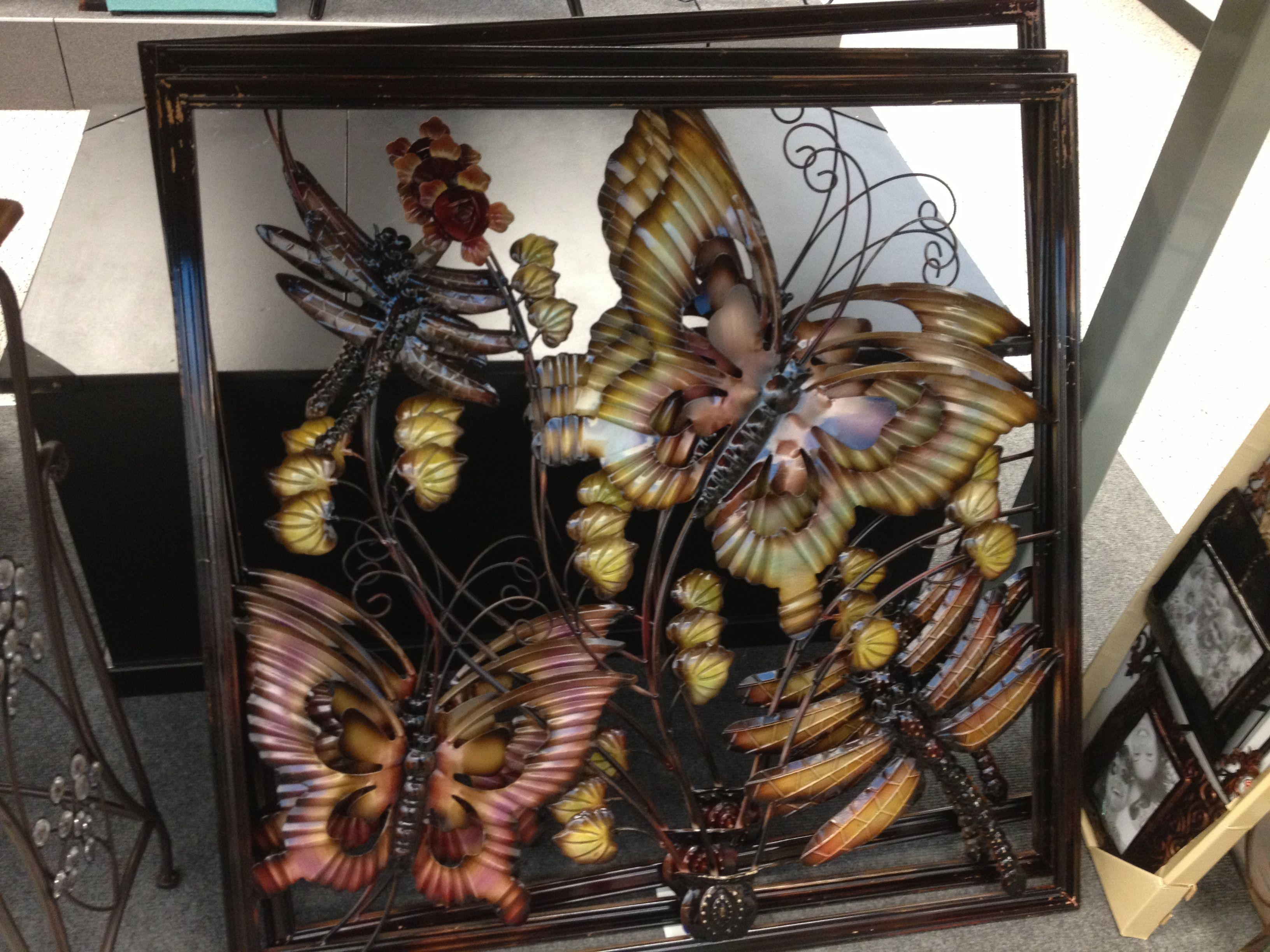 Butterfly And flower metal wall art at Ross & Perfect! Butterfly And flower metal wall art at Ross | Miriamu0027s Room ...