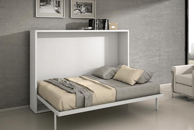 armoire lit escamotable horizontale 140