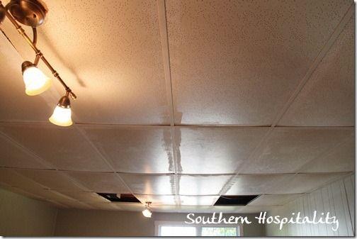 Replacing Drop Ceiling Tiles Drop Ceiling Tiles Dropped Ceiling Ceiling Tiles