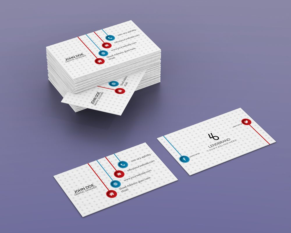 Free Horizontal Bulk Business Card PSD Mockup