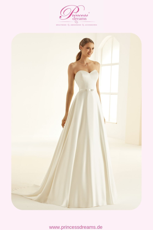 Brautkleid Schlicht mit Herzausschnitt trägerlos von Bianco Evento