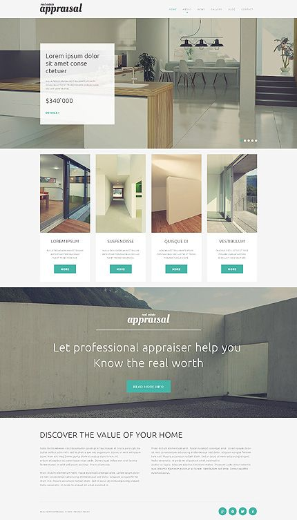 Real Estate Appraisal Responsive JavaScript Animated Website Template
