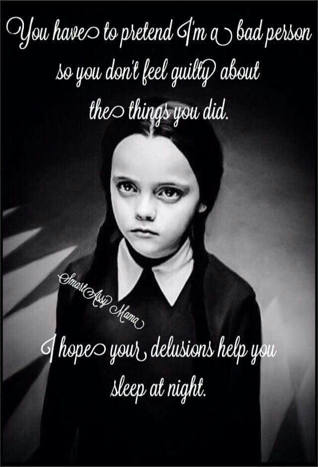 Wednesday Addams (With images) Dark humor, Bad person