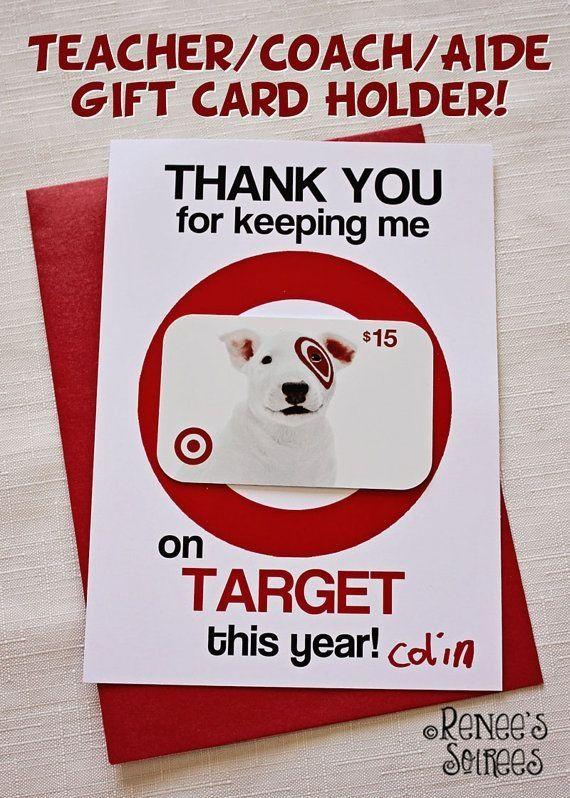 Printable Gift Card Holder Perfect For Teacher