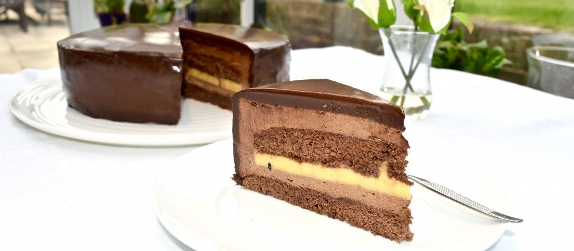 Chocolate & Passion Fruit Torte