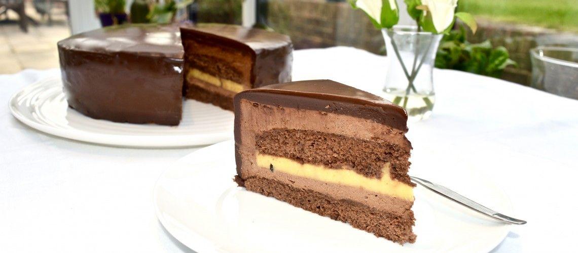 Chocolate & Passion Fruit Torte