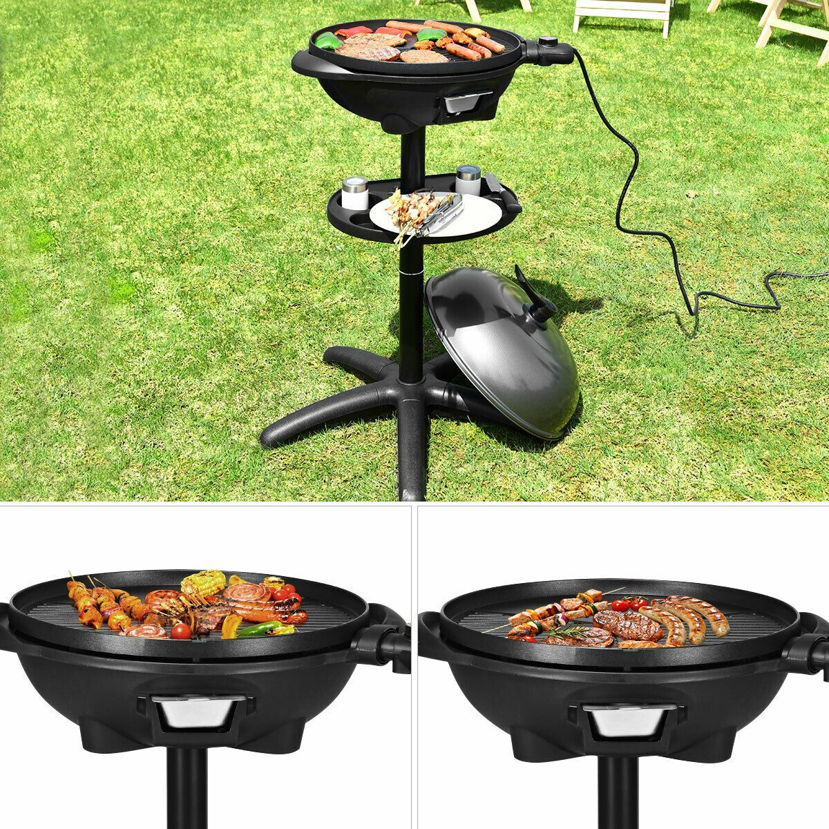 Electric Bbq Grill 1350w Non Stick 4 Temperature Setting Outdoor Garden Camping Electric Bbq Electric Bbq Grill Bbq Grill