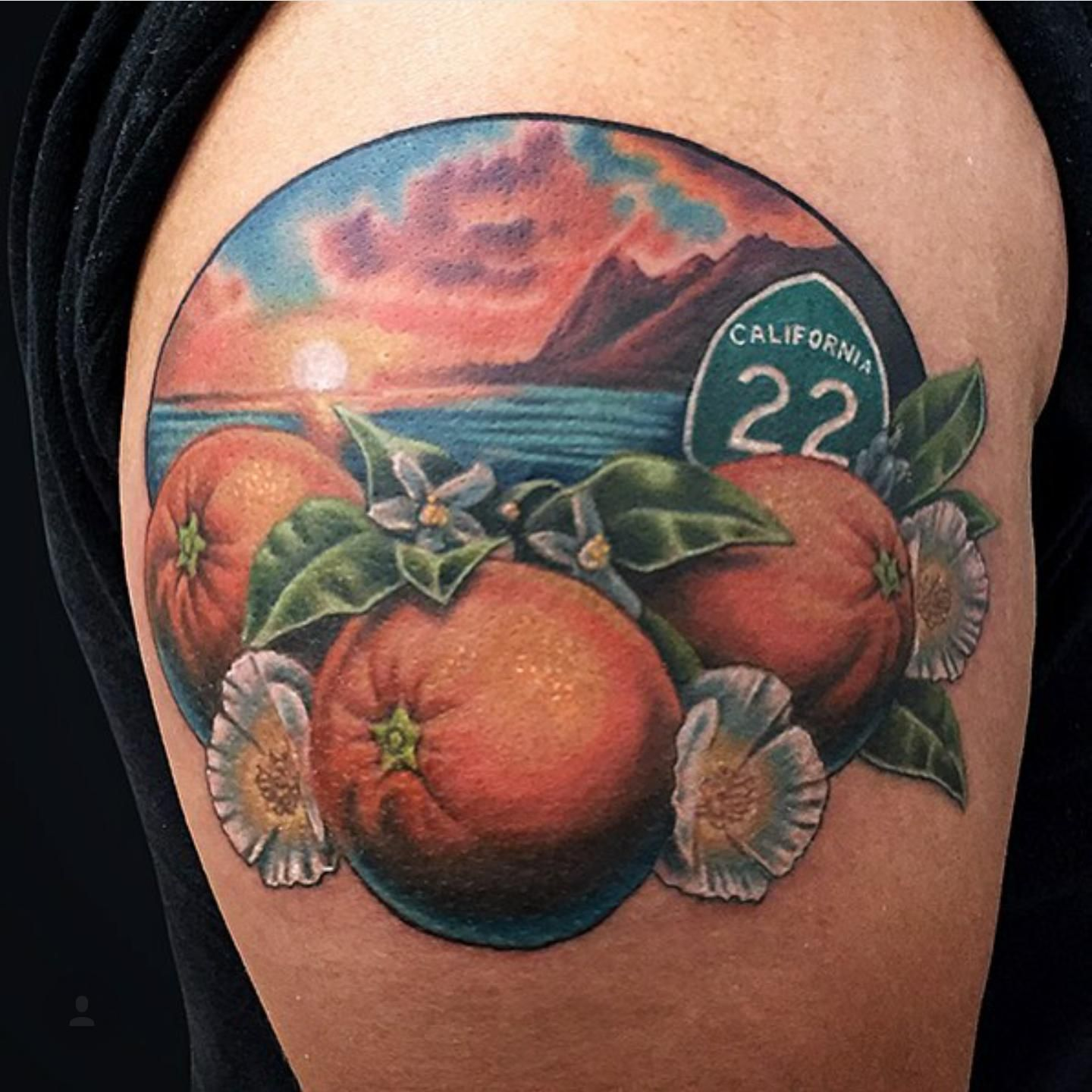 First tattoo orange county themed done by marc durrant at