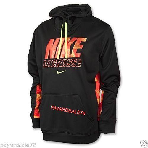 Ko Black Hoodie Men's Xl Lax Orange Nike Volt Sweatshirt Lacrosse JKF13lTc