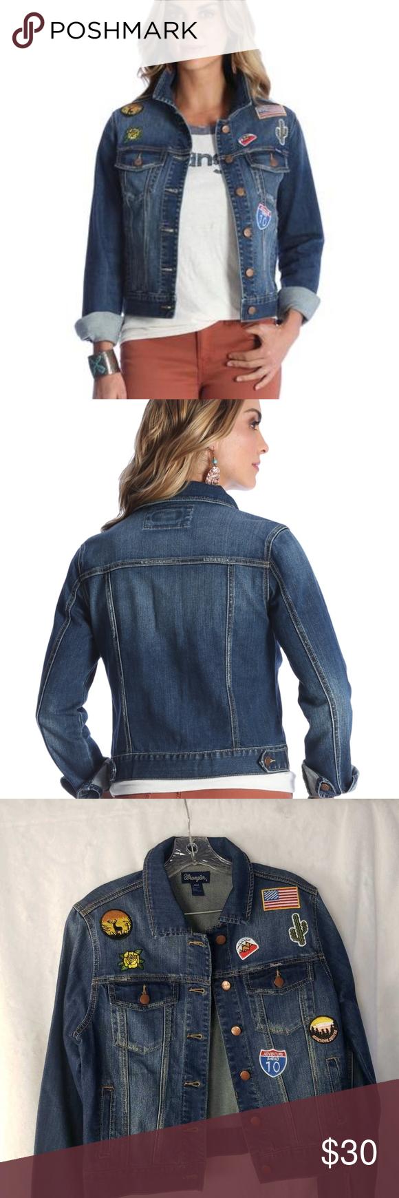 Wrangler Women Denim Jacket Blue Patches Stretch F Denim Jacket Women Sherpa Lined Denim Jacket Lined Denim Jacket [ 1740 x 580 Pixel ]
