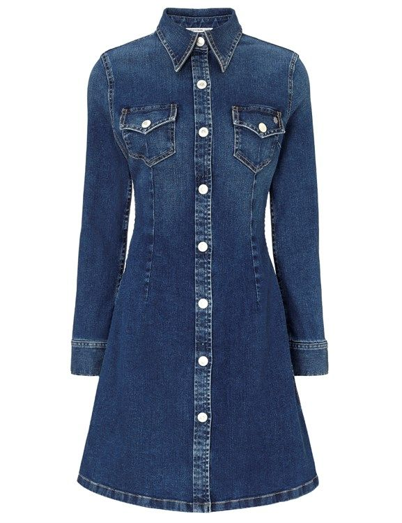 Lightsome Denim The Pixie Dress by: Alexa Chung for AG