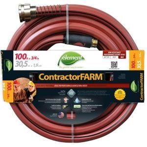Element 3 4 In Dia X 100 Ft Contractor Farm Elcf34100cc The Home Depot Garden Hose Hose Water Hose