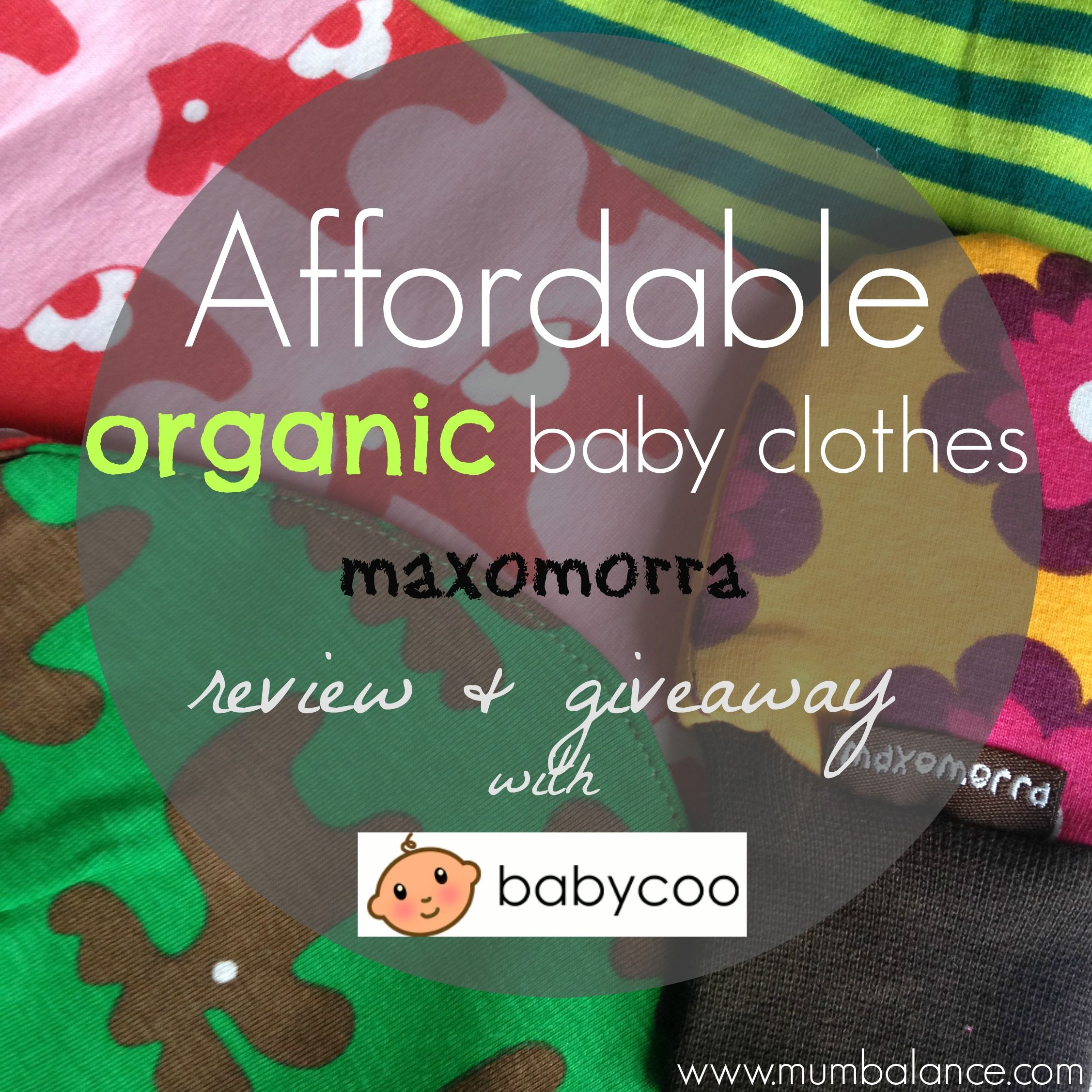 A chance to win £25 to spend on Maxomorra Organic baby clothes on