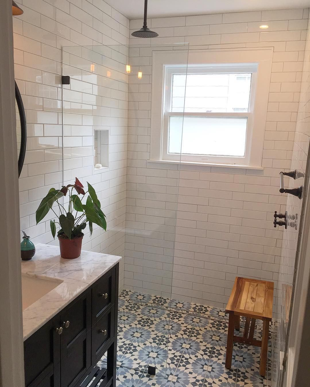 Clay Imports Austin On Instagram Sharing This Project By Camcrow Because Bathroomgoals Our Cement Tile Small Master Bath Sustainable Flooring